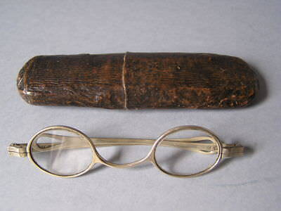 GEORGIAN STERLING SILVER CASED SPECTACLES 1821 - Cased