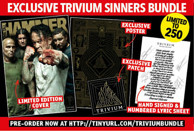 Metal Hammer - Issue 308 Trivium Bundle inc Hand Signed Lyric Sheet Patch Poster