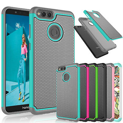 For Huawei Honor 7X / Mate SE Shockproof Rubber Hard Shell Bumper Case Cover