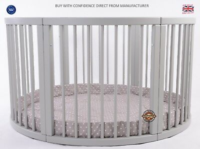 ROUND Playpen ATLAS Quattro with CAPPUCCINO Playmat Dots Brand NEW V. LARGE SALE