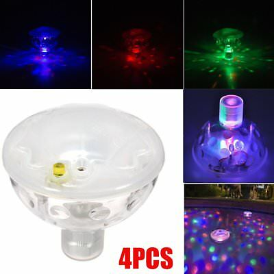 4x Floating Underwater RGB LED Disco Light Glow Show Swimming Pool Tub Spa Lamp