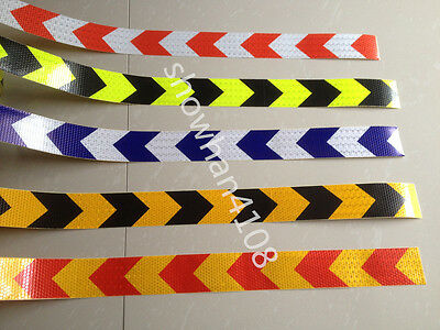"""Safety Arrow Reflective Warning Tape Sticker for Road Stair Way Garage 2"""" Width"""