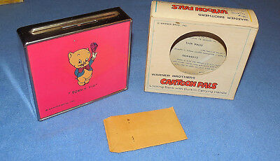 Warner Bros. Cartoon Pals Tin Porky Pig Locking Bank- 1970's -M.a. Gerett -Nos
