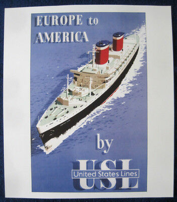 SS UNITED STATES Poster (Reproduction) -- United States Lines