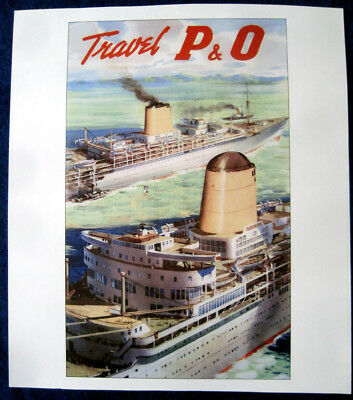 P&O 1950s Poster (Reproduction)  IBERIA & ARCADIA