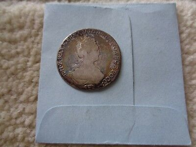 178? Russia Catherine The Great 20 kopeck silver coin