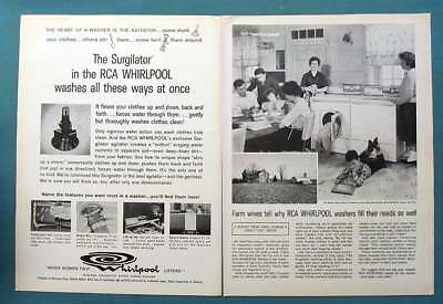 Orig 1962 Whirlpool Photo Ad Endorsed Wallace Kent Family, Frederick County MD
