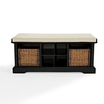 Crosley Brennan Entryway Storage Bench, Black - CF6003-BK