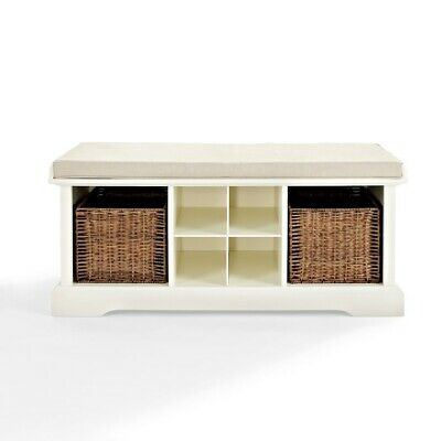 Crosley Brennan Entryway Storage Bench, White - CF6003-WH