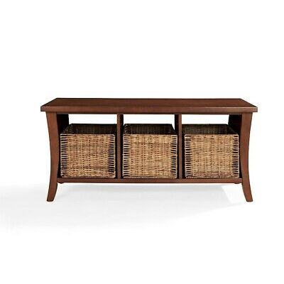Crosley Wallis Entryway Storage Bench, Mahogany - CF6002-MA