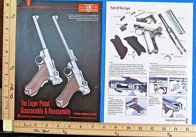 2012 THE LUGER PISTOL Disassembly Parts 4-P EXPLODED VIEWS Magazine Article 9004