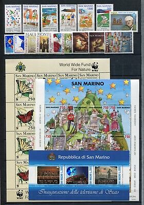 SAN MARINO 1993 MNH COMPLETE YEAR (with BUTTERFLIES SHEET)
