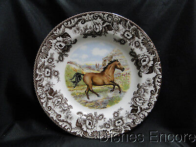 "Spode Woodland American Quarter Horse, England: Dinner Plate 10 3/4"", NEW w/ Box"