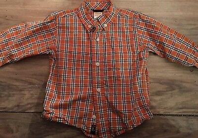 Gymboree Football Champ Boys Long Sleeve Button Up Shirt Size 18-24 Months Orang