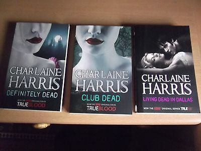 Three Books In The Sookie Stackhouse Series By True Blood Charlaine Harris