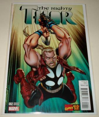 The MIGHTY THOR # 2 Marvel Comic (February 2016) 1:20 Frenz MARVEL '92 VARIANT