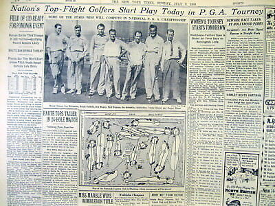 1939 New York Times newspaper PGA Championship Golf Tournament played in QUEENS