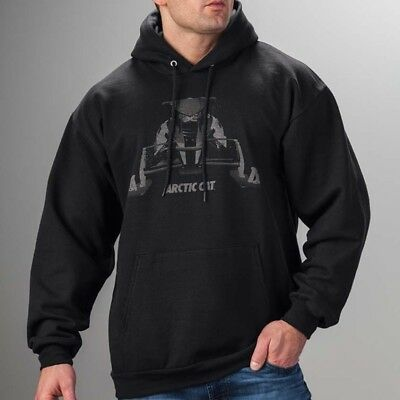 Arctic Cat Men's Relaxed Fit Cotton Fleece Interior Ghost Hoodie Black 5279-49_