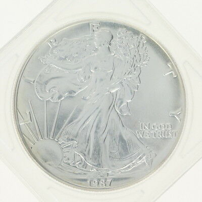 1987 American Silver Eagle $1 Coin - Fine Silver 1 oz. Walking Liberty