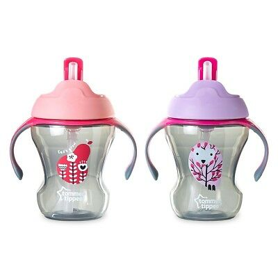 Tommee Tippee Trainer Straw Cup - Pink/Purple