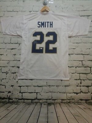 HARRISON SMITH autographed signed college style white jersey JSA Witness 2b2848467