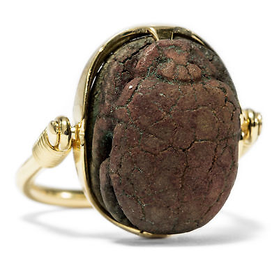 Gold Ring from Our Workshop: Antique Egyptian Scarab! Antique Scarab