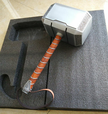 USA Full Metal CATTOYS 1:1 The Avengers Thor Hammer Replica Props Mjolnir Gift