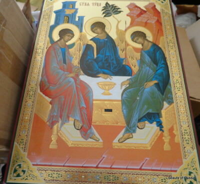 Russian  icon   Trinity  18 x13 inches  huge
