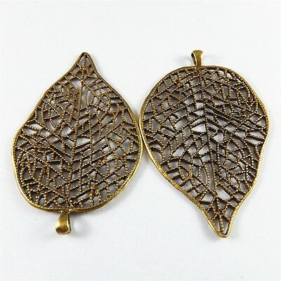 5pcs Vintage Bronze Hollow Basket Brass Pendants Charms Crafts Findings 51693