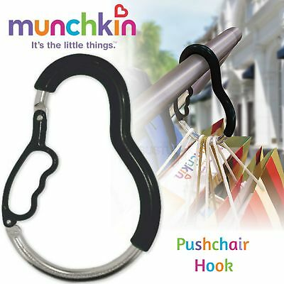 Munchkin Pushchair Handy Hook│Travel Accessory Storage│Carry Bag│Heavy Aluminium