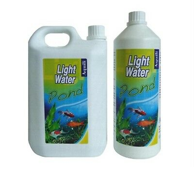 Aquili Light Water 2L 2000Ml Chiarificatore Acqua Trasparente Laghetto Pond