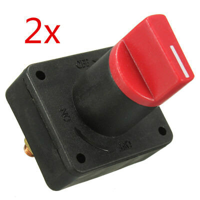 2X Interruttore Stacca Batteria Killer Switch On Off Auto Camion Moto 60V 300A