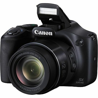 "Canon PowerShot SX530 HS 16.0MP WiFi 3"" Display 50x Optical Zoom Digital Camera"