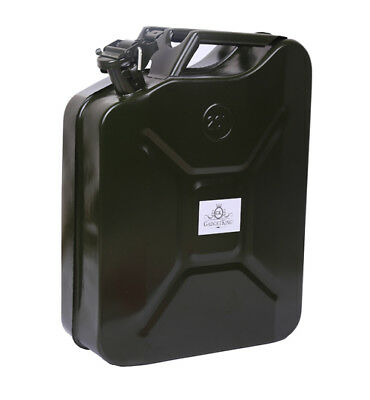 Metal Fuel Jerry Can Diesel Petrol Oil 20 Litre Green Military Car Gasoline