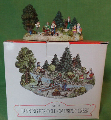 Liberty Falls Collection ~ Panning For Gold On Liberty Creek ~ Mint In Box AH175