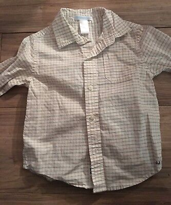 Janie And Jack Boys Long Sleeve Button Up Shirt Size 2T