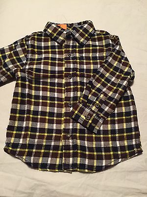 Gymboree Woodland Party Boys Long Sleeve Button Up Shirt Size 18-24 Months Nwt