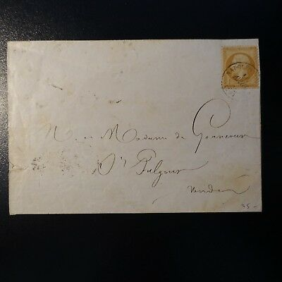 Napoléon N°21 On Letter Cover Cad Napoléon Vendee > St Fulgent