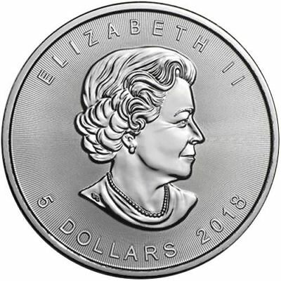 CANADA $5 Dollars 2018 (MAPLE LEAF) SILVER 1oz coin (.9999) NEW IN CAPSULE