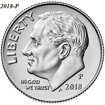 2018-P Uncirculated Roosevelt Dime - I Have All P-D-S Clad Dimes Listed