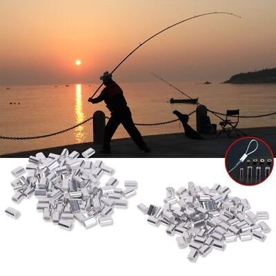 100 Pcs Fishing Double Tube Copper Line Sleeves Connector Crimp 0.8/1/1.2/1.5mm
