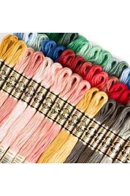 Dmc Jacquard Colors: 50-Color Assortment Of Dmc Six-Strand Embroidery Floss S