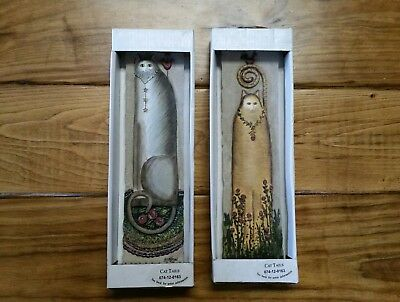 """Eileen Smithson Wildflower 11"""" Cat Tails Wall Plaque Decor 3D New Smokey Rose"""