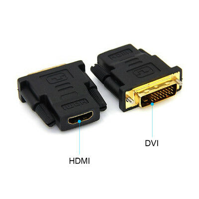 High Quality DVI-D Male to HDMI Female Converter HD HDTV Monitor Display Adapter