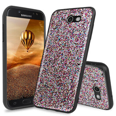 For Samsung Galaxy Halo Magnetic Phone Hard Case Cover+Tempered Glass Screen