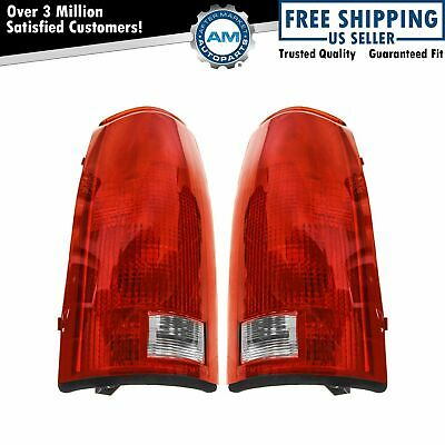 Taillights Brake Lights w/Circuit Boards LH & RH Pair Set for Chevy GMC Cadillac