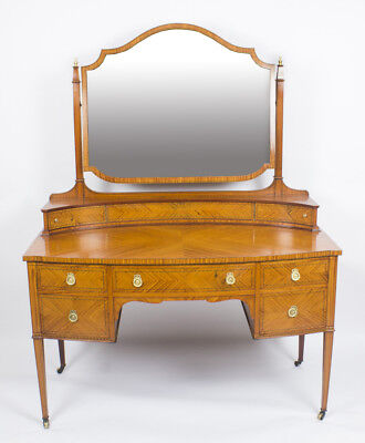 Antique Satinwood Inlaid Dressing Table  Maple & Co 19th C