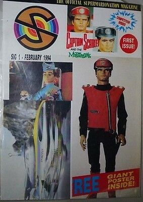 SIG No 1 Official SuperMarioNation Magazine - 1994 UK Captain Scarlet
