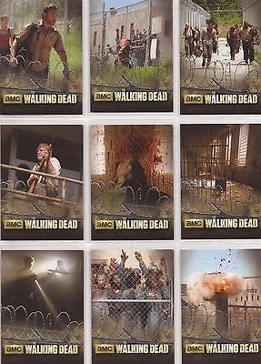 """Walking Dead Season 3 - """"The Prison"""" Foil-Stamped Set of 9 Chase Cards TP01-09"""