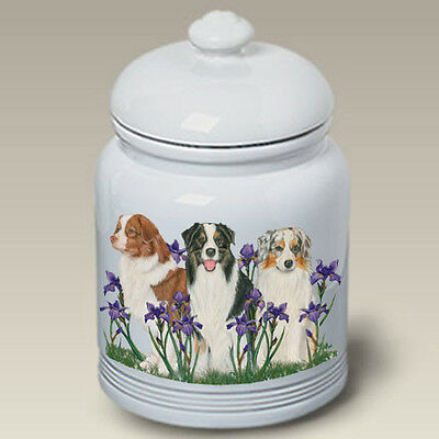 Ceramic Treat Cookie Jar - Australian Shepherd (PS) 52059
